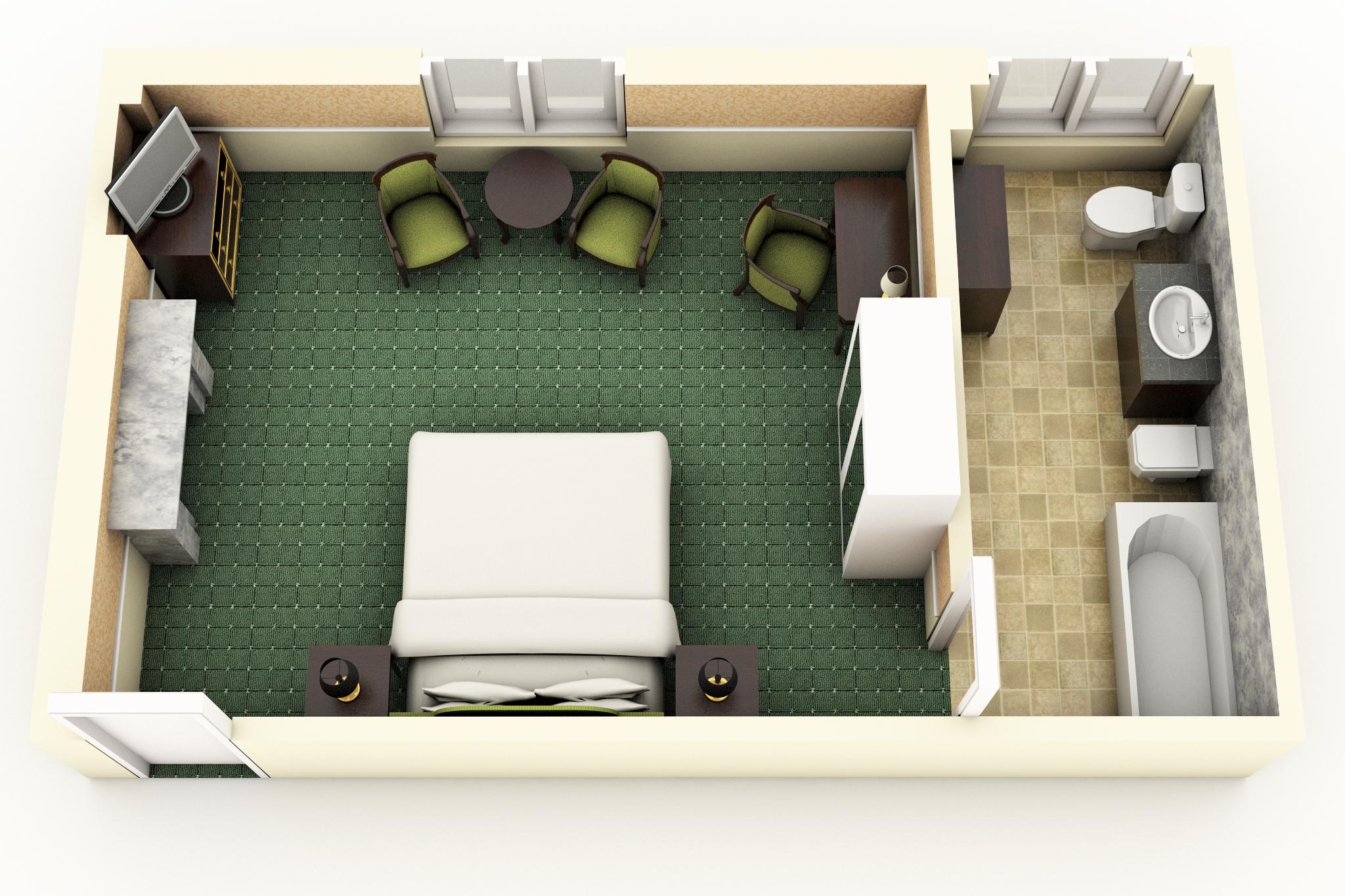 Deluxe Saint-Honoré Room floorplan