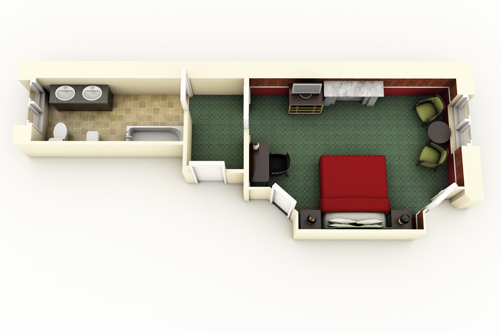 Executive Vendôme Room floorplan