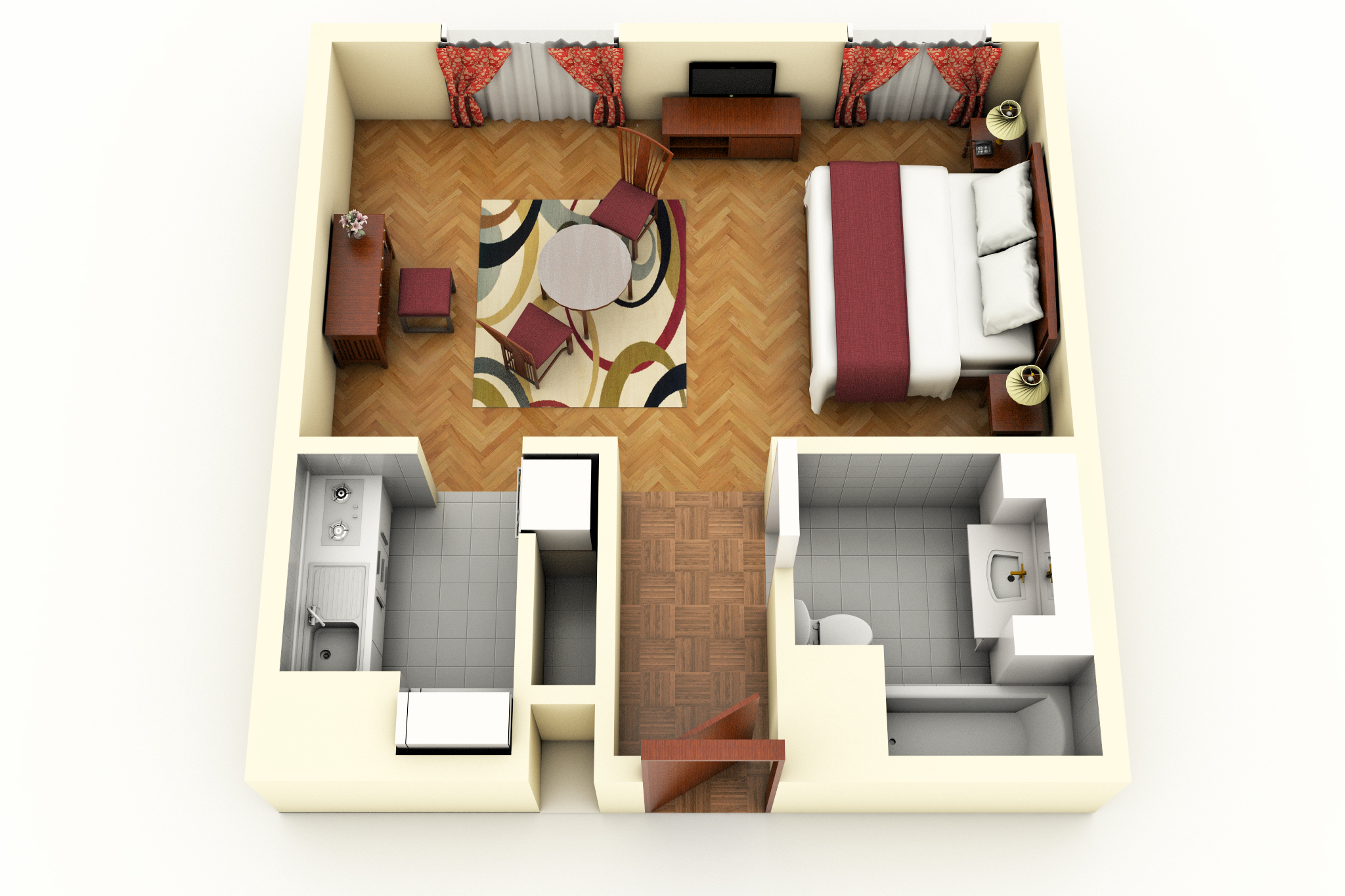 Deluxe Room floorplan