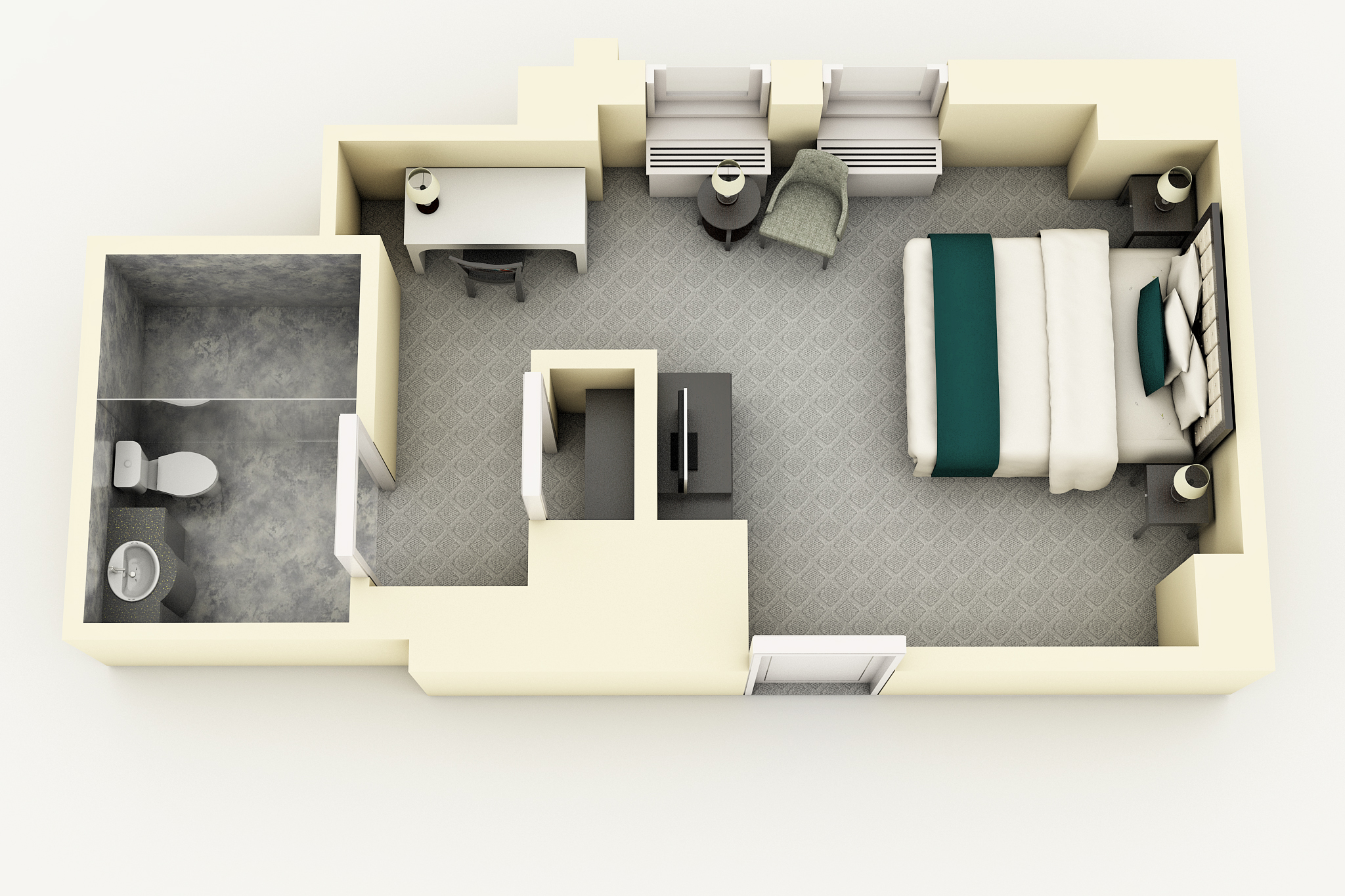 King Room floorplan